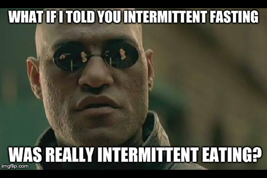 Image result for intermittent fasting morpheus meme