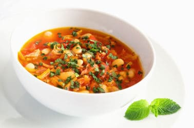 Low Calorie Soup Recipe: Tomato & Butter Bean Soup